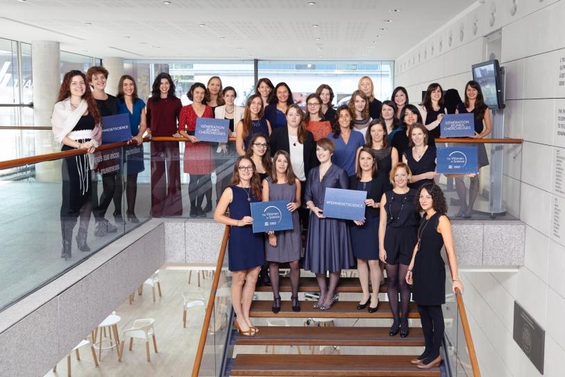 Lauréates 2016 de la bourse L'Oréal-UNESCO pour les Femmes et la Science lors de la remise des prix à l'Institut Pasteur