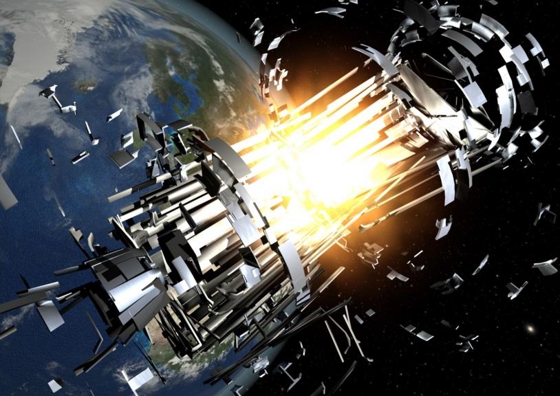 Explosion d'un satellite américain, pour zéro débris de plus !