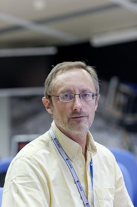 Philippe Gaudon, chef du projet Rosetta au CNES, dans les locaux du SONC (CNES-Toulouse). Crédits : CNES/G. Cannat.